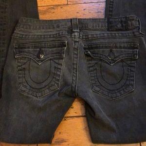 True Religion low rise skinny black rinse jeans 30